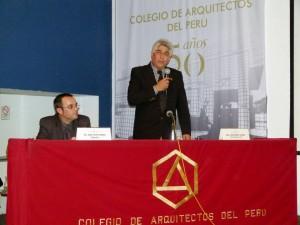 Conferencia por 50 años del Colegio de Arquitectos del Perú, 2012
